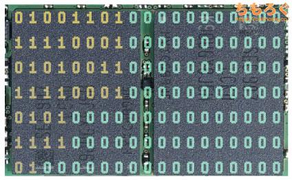 NANDフラッシュメモリにデータを記録するイメージ