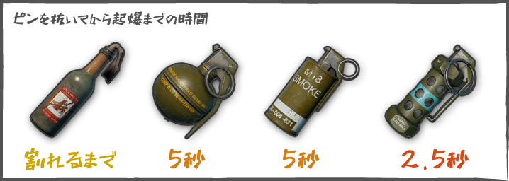 【PUBG】グレネードの起爆時間