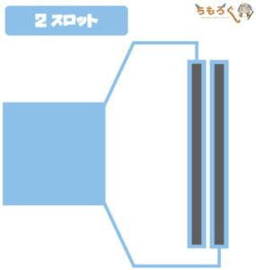 メモリスロットの配線(2スロット)