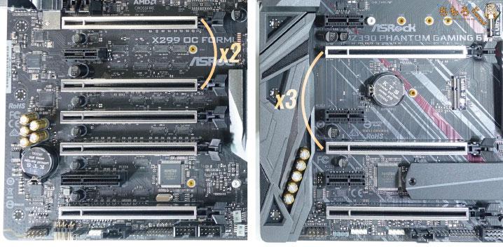 拡張スロット(PCIeスロット)のレイアウトについて