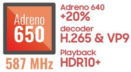 内蔵グラフィックは「Adreno 650」を搭載