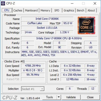 PCスペックを確認する方法(CPU-Z)
