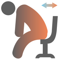 ゲーミングチェアの選び方:座面の奥行き