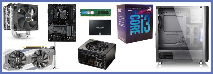 【予算10万】Core i3 + GTX 1060で自作PC