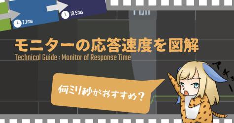 モニターの応答速度を図解:何ミリ秒がおすすめ?