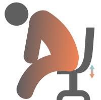 ゲーミングチェアの選び方:座面の厚み