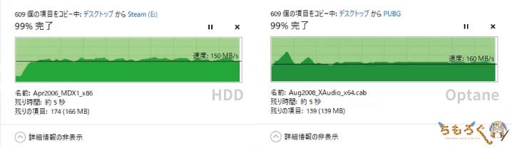 ファイルコピーの速度
