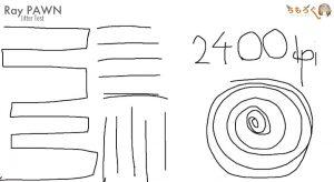 Ray PAWNのジッタを計測(2400dpi)