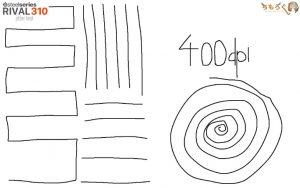 RIVAL 310のジッタを計測(400dpi)