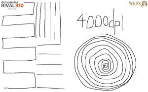 RIVAL 310のジッタを計測(4000dpi)