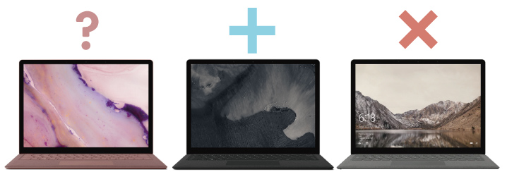 Surface Laptop 2の違い : カラーリング編