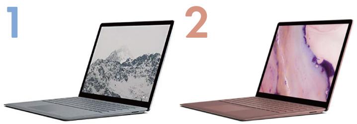 Surface Laptop 2の違い : デザイン編