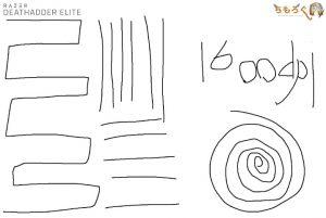 Razer Deathadder Eliteのジッタを計測(1600dpi)