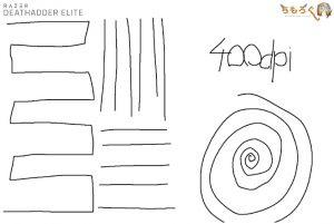 Razer Deathadder Eliteのジッタを計測(400dpi)