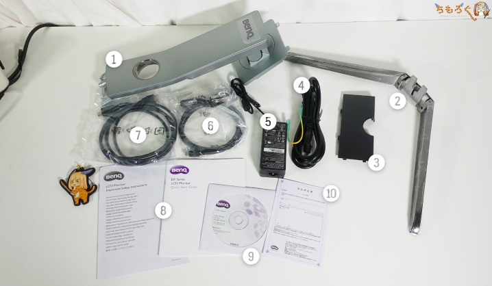 BenQ EX3200Rの付属品
