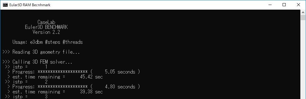 Eular3D Benchmark(計算速度)