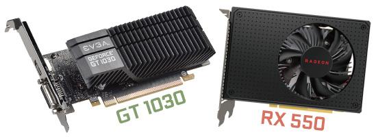GT 1030とRX 550