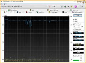 Samsung 970 EVOをベンチマーク(HD Tune Pro)