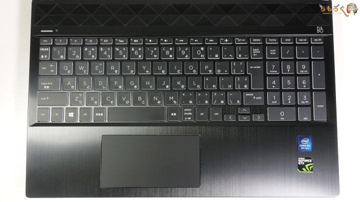 HP Pavilion Gaming 15(スタンダードモデル)のキーボード