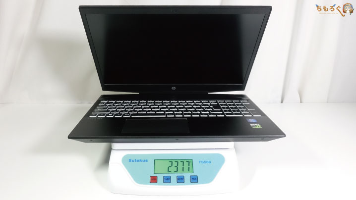 HP Pavilion Gaming 15(スタンダードモデル)の重量