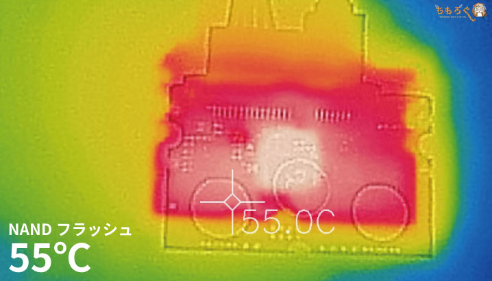 Intel 545sの表面温度