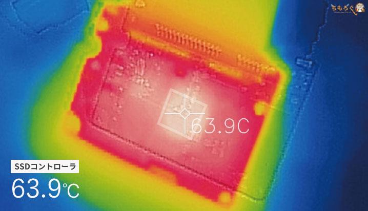 WD Blue 3Dの動作温度(サーモグラフィー)