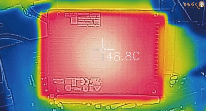 Intel Optane 900pのベンチマーク(動作温度と発熱)