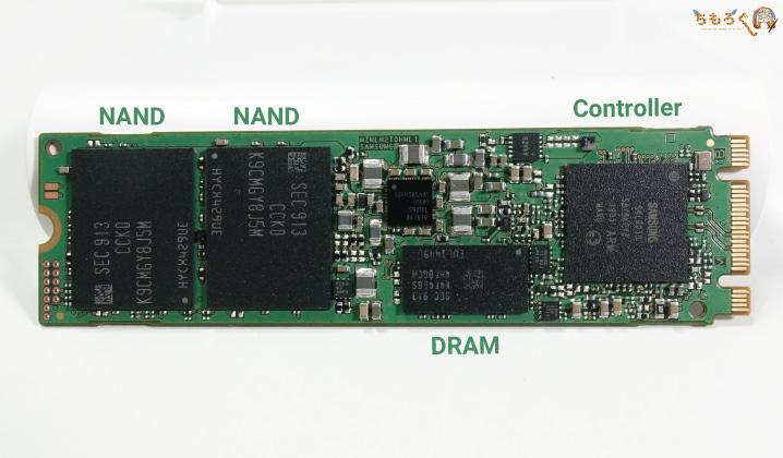 Samsung 860 EVOをレビュー(コンポーネント)