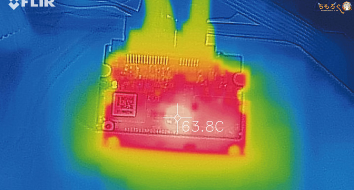 CFD SSD CG3VXの表面温度(コントローラ)