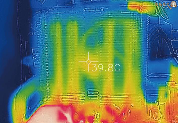 「虎徹Mark II」の表面温度