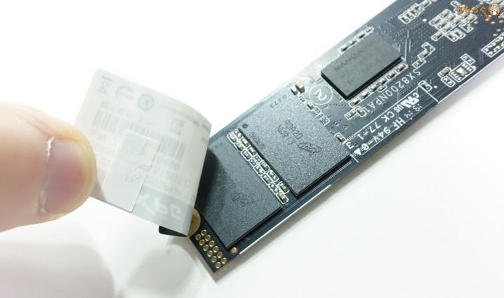 Adata XPG SX8200 Proの基板コンポーネント(裏面)
