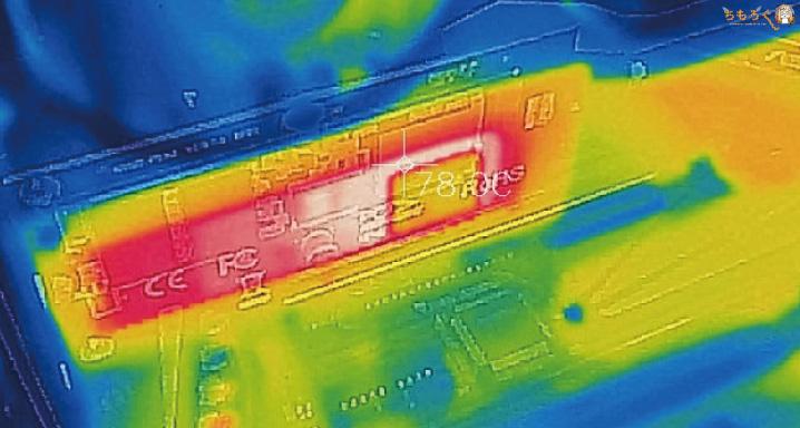 Adata XPG SX8200 Proの表面温度