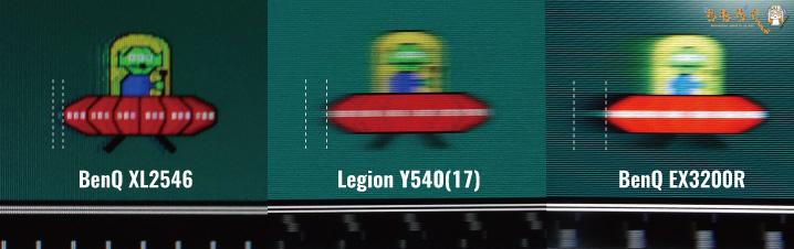 Lenovo Legion Y540(17)の応答速度(残像)