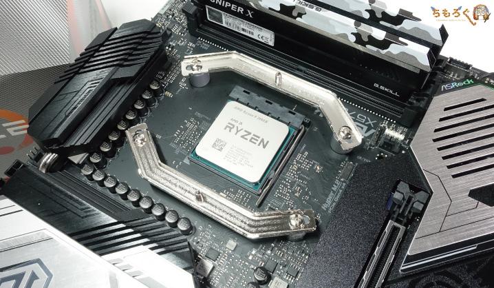 Ryzen 9 3900Xを取り付け