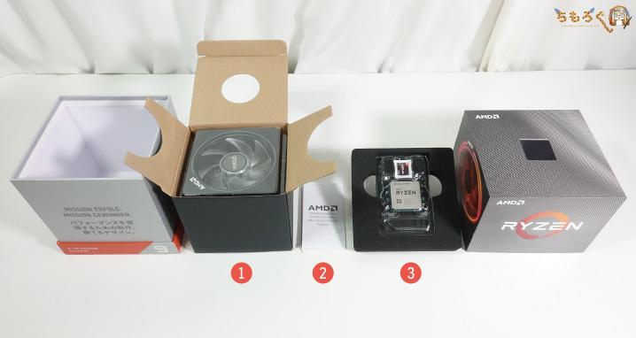 Ryzen 9 3900Xの付属品