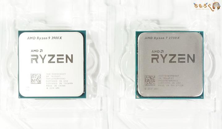Ryzen 9 3900XとRyzen 7 2700Xを見比べ