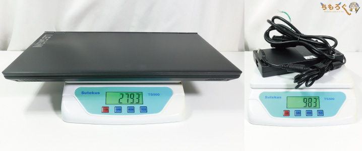 Lenovo Legion Y540の重量を計測
