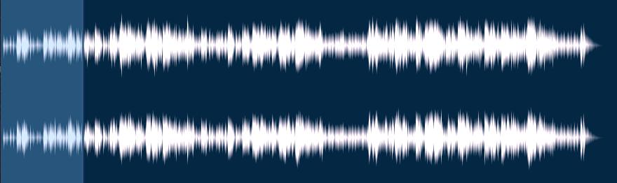 検証に使用した音源の波形