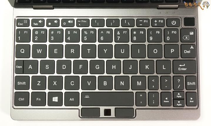 OneMix 3Sのキーボード