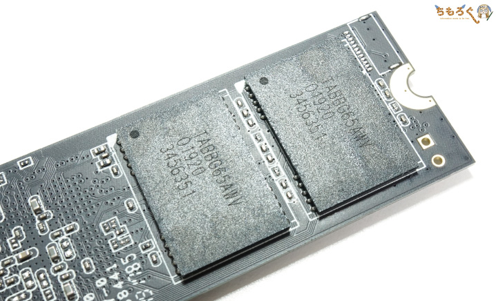 GIGABYTE Aorus NVMe Gen4 SSDのNANDフラッシュ