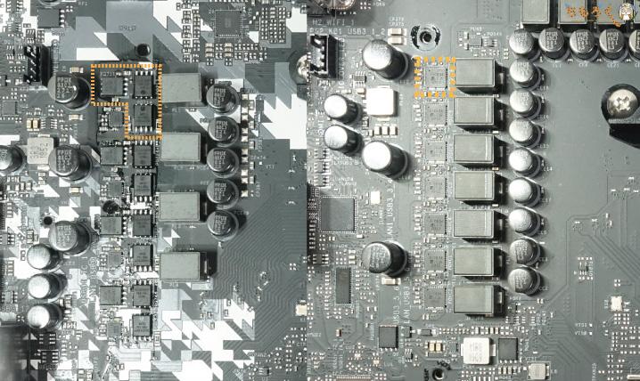 マザーボードのVRMフェーズ回路(MOSFETの違い)