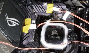 ROG STRIX X570-E GAMINGのVRMフェーズ回路の温度を計測