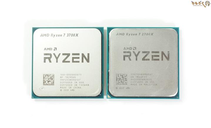 Ryzen 7 3700XとRyzen 7 2700X