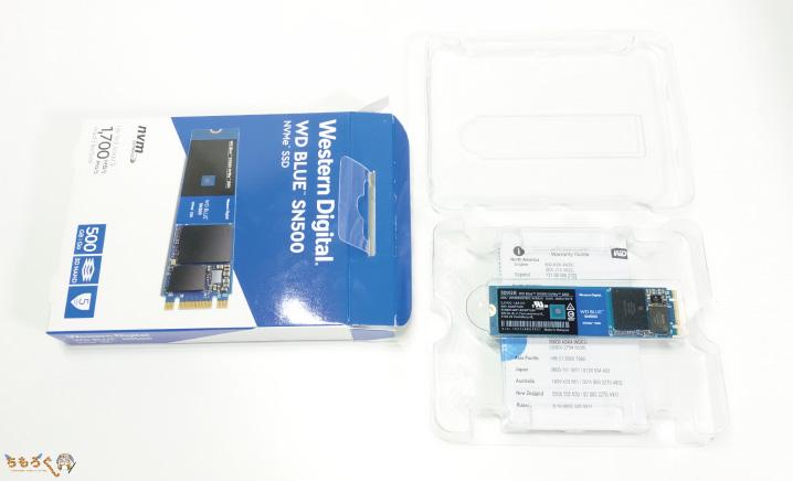 SSDをマザーボードの取り付けていく
