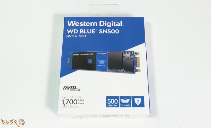 SSDは「WD Blue SN500 NVMe」