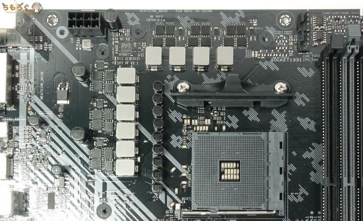 ASUS TUF B450-Pro Gamingのフェーズ回路
