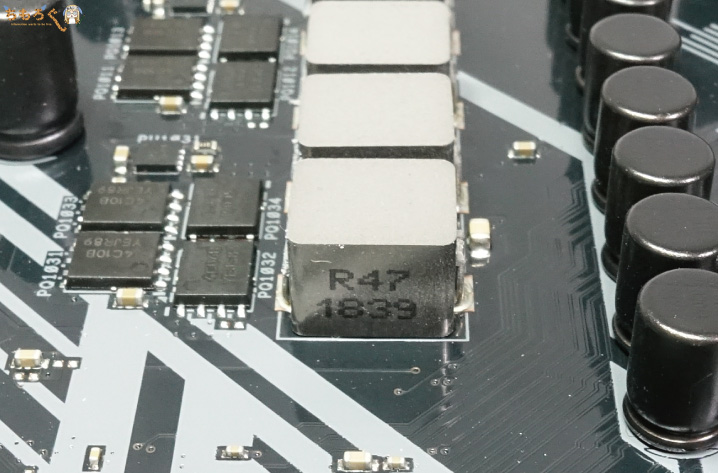 ASUS TUF B450-Pro GamingのVRMフェーズ回路