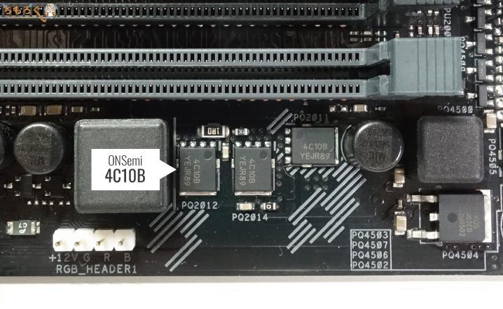ASUS TUF B450-Pro Gamingの基板コンポーネント