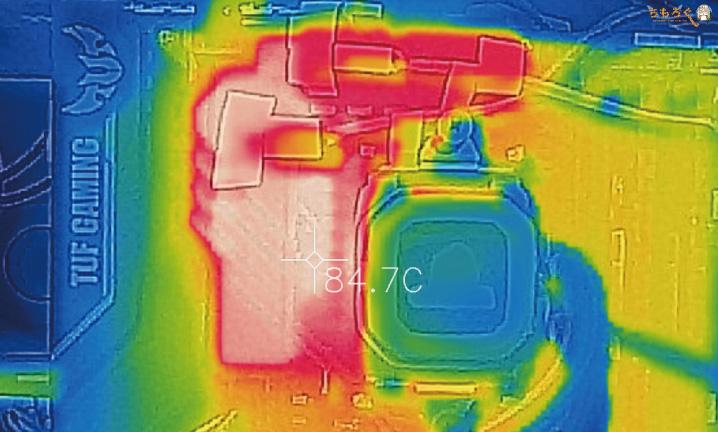 ASUS TUF B450-Pro GamingのVRMフェーズの温度を計測