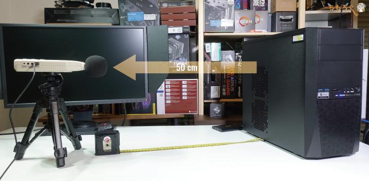 GALLERIA RV5の動作音を計測